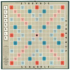Printable scrabble board link for tiles too use for for Blank scrabble board template