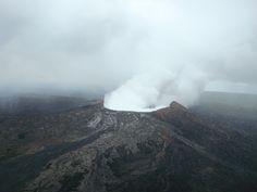 Pu'i O'o crater from the air, Big Island, Hawaii. Photo by Carolan Ivey.