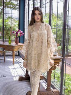 Pakistani Kurti Azure Luxury Formals Vol 5 Agaste Gold – Beautiful Pakistani Dresses, Pakistani Formal Dresses, Pakistani Fashion Casual, Pakistani Wedding Outfits, Muslim Fashion, Indian Fashion, Emo Fashion, Dress Brukat, Hijab Style Dress