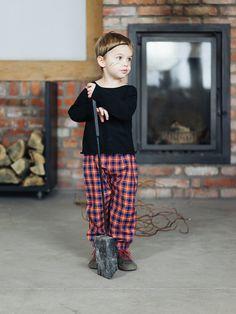Pants BRAVE RED – Pan Pantaloni Summer Tribes 2015 collection for kids, light cotton pants. #fashion #kids #natural