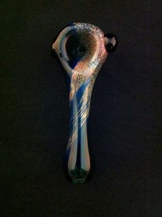 Lake Green Glass Pipe Two Tone Frit Head Tobacco Spoon Pipe. $10.00, via Etsy.