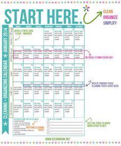 Easy Monthly cleaning schedule to keep your house looking great!