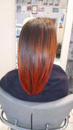 Wykonanie: Edyta. www.fryzjer.lublin.pl Topchic + Elumen #Goldwell #Topchic #Elumen #hair #dyed #hairstyle #haircut #redhead #włosy #fryzjer #fryzury #Lublin
