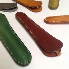 Simple leather pen case by wolfram Lohr
