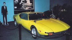 CARS of Elvis Presley 1971  <> DeTomaso Pantera <> A DeTomaso Pantera is an unlikely, if brilliant choice of motor car for Elvis. It is said that he took a shot at it when it failed to start. It thus had a bullet hole in the door and steering wheel. Don't try this at home… © Wikipedia | AJB83