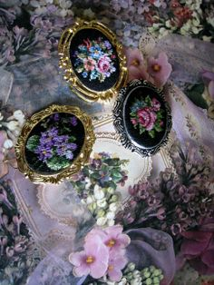 Brooches  made by Swetlana O.( petit point)