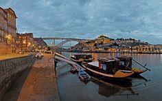 10 motivos para visitar Porto, Portugal - via anayatouring 27.03.2015    Foto: Vila Nova de Gaia y el punte de Luis I al fondo / @ Shutterstock