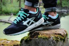Asics Gel Saga - Black/Mint #asicsgel #sneakers