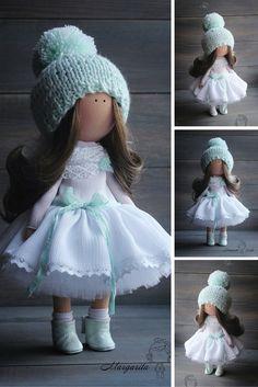 Soft doll handmade Angel doll Nursery decor doll Art doll Baby doll Tilda doll doll by Master Margarita Hilko