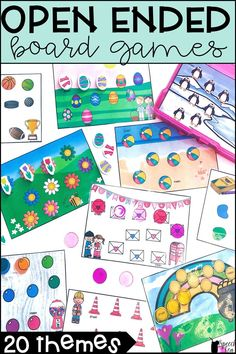 These open ended games are perfect for the entire year. Work on any goal! Perfect for speech therapy, special education, classrooms, and home practice. Themes include holidays, seasons, and other fun various themes. Behavior management tool to keep your students engaged while working on skills! Perfect for preschool, elementary, and even some older students. Click for more info.