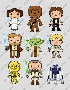 Star Wars inspired wall art kids wall art Star Wars by MiniHeroes