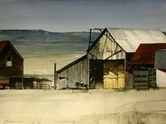 "Joseph Alleman || Clear Day  2006, Watercolor,  22"" x 30"""