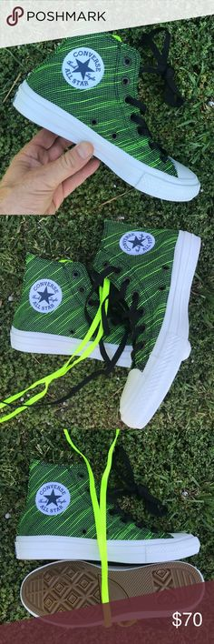 NWOB CONVERSE SIZE 6 MENS BRAND NEW CONVERSE BASKETBALL  SHOES  HI KNIT BLACK VOLT GREEN 100% AUTHENTIC.   ONE OF EACH SIZE IS AVAILABLE.   SHIPS SAME OR NEXT DAY FROM MY SMOKE FREE HOME.   REASONABLE OFFERS WILL ONLY BE CONSIDERED THROUGH THE OFFER BUTTON. ANY OFFERS IN COMMENTS WILL BE IGNORED.   BUNDLE DISCOUNT SUBJECT TO MY APPROVAL. ✨   TRUSTED RELIABLE SELLER. ALL PRODUCT IS 100% AUTHENTIC & DIRECT FROM CONVERSE Converse Shoes Sneakers