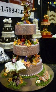 Enchanted Forest wedding cake by The Cake Zone