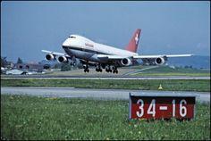 """Boeing 747-257 B, HB-IGB """"Zürich"""" beim Landen in Zürich-Kloten;  LBS_SR04-002395"""