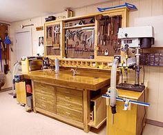 The Texan creatively adapted nearly everything in his shop from book and magazine plans.