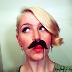 Mustache Party?  Not sure where to save this, Crochet or Funny?