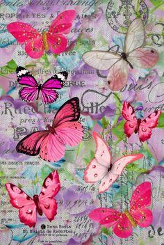 MI MALETA DE RECORTES: Primavera, Collages Digitales, Flores, Niños, Mariposas y Poemas