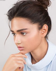 Weird Jewelry, Nose Jewelry, Modern Jewelry, Unique Jewelry, Jewelry Accessories, Faux Nose Ring, Nose Stud, Nose Hoop, Stud Earrings