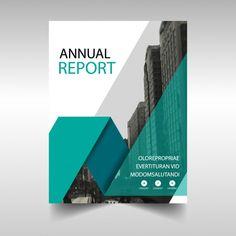 Vert modèle rapport annuel de couverture Vecteur gratuit