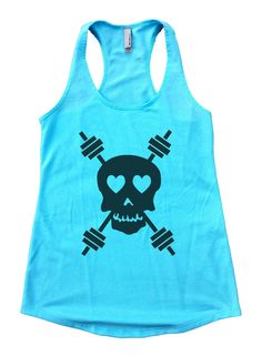 Skull And Weight Bars Womens Workout Tank Top