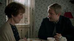 Mrs. Hudson and Dr. John Watson (Una Stubbs and martin Freeman)