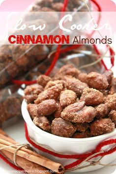 Slow Cooker Cinnamon Almonds : The Recipe Critic.  These are so delicious and easy and make an awesome holiday gift!