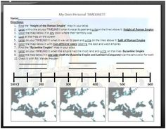 Roman Empire Timeline: I kept finding my kids getting confused about the Roman Empire, the split of the Empire, and the Byzantine Empire. So I made this timeline and map worksheet to help them. Download available at: http://www.sharemylesson.com/teaching-resource/Rome-Byzantine-Timeline-and-Map-50027280/requestAction/add/