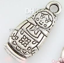 Wholesale MIC IN STOCK 110X Tibetan Silver Plated Russian Doll Matryoshk Charms Pendant 7X17mm, $0.08-0.1/Piece | DHgate