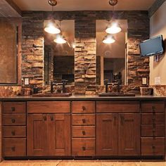 Rustic Bathroom Double Vanity the ultimate bathroom design guide | bathroom double vanity