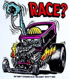 Rat Fink Hot Rod Race Sticker - http://www.amazon.com/exec/obidos/ASIN/B0052LGF5G/rocketfin-20