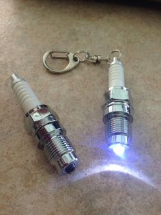 Spark Plug Automotive keychain accessory sparkplug
