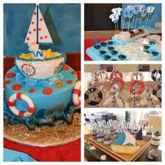 J's Baby Shower...Ahoy Sailor... Baby Abraham is sailing this way | CatchMyParty.com