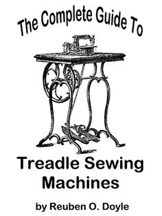 This fabulous, step-by-step guide helps the average home sewer quickly and easily learn how to operate and repair a traditional treadle sewing machine. Written in step-by-step instructional style, this book will take you through how to set up your ma...
