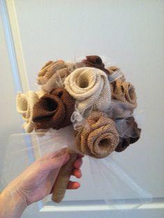 This item is unavailable Burlap Bouquet, Rustic Bouquet, Burlap Flowers, Fabric Flowers, Bridal Flowers, Flower Bouquet Wedding, Bridal Bouquets, Our Wedding Day, Wedding Dreams