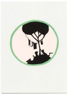 Postcard 'Wassen' van Stokwolf
