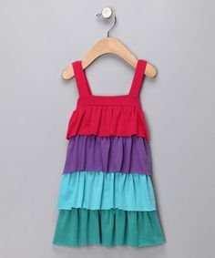 Take a look at this Fuchsia & Purple Tiered Dress - Infant & Toddler by Freckles + Kitty on #zulily today!