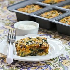Kalyn's Kitchen®: Recipe for Swiss Chard and Mushroom Squares  [Kalyn's Kitchen; #SouthBeachDiet friendly]