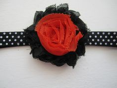 Orange and Black 2.5 Inside Out Shabby by MelissaRevierDesigns