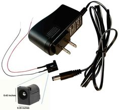pictured - LED 12V regulated power transformer with a small power jack to place on or inside a miniature can run mix of LEDs and incandescent (also available 3V)