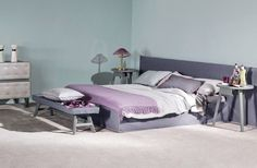 Gervasoni, project by Paola Navone: Ghost 81 E bed.