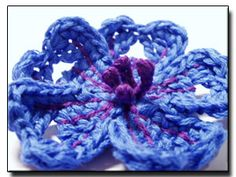 Caucasian Crane's-bill crochet flower ` ~ pattern no. 138