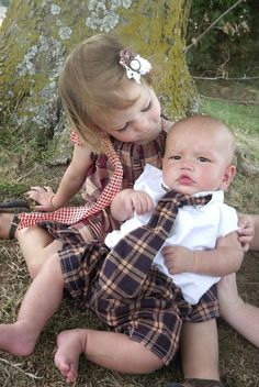 brother and sister matching outfits by Chicamonkyboutique on Etsy, $56.00