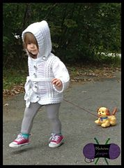 Ravelry: Chilly Cables Coatigan - Child pattern by Sonya Blackstone
