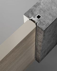 Reversible flush-wall door with push or pull opening by Garofoli Detail Architecture, Interior Architecture, Interior And Exterior, Window Design, Door Design, Joinery Details, Flush Doors, Door Detail, Steel Doors