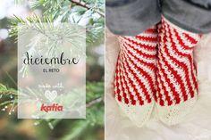 Los calcetines más navideños para despedir El Reto | http://www.katia.com/blog/es/2014/12/05/patron-punto-calcetines-navidad/