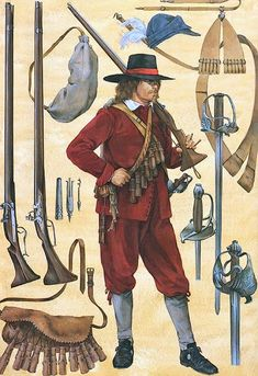 """English Civil War - A mid-war musketeer, 1643-44"""