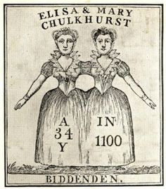 The Biddenden Maids - Famous Siamese Twins from Medieval times Daisy And Violet Hilton, Among The Living, Conjoined Twins, Human Oddities, Creepy Images, Early Middle Ages, Medieval Times, Antique Photos, Siamese