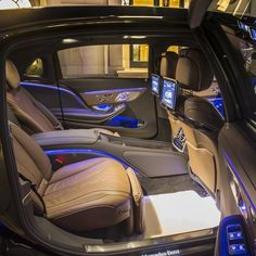 The all-new Mercedes-Maybach's almost 18 feet of length allows for unparalleled comfort and sophistication inside, featuring hand-stitched Nappa leather throughout