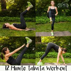 This quick Tabata Workout takes only 12 minutes and works your legs, arms and core!